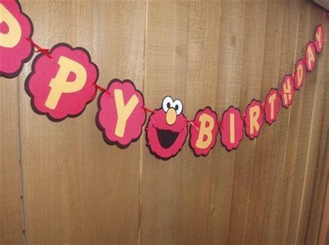 Handmade Happy Birthday Banner - elmo happy birthday banner on etsy craftjuice handmade