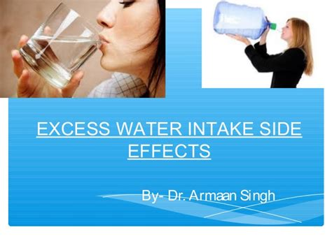 excessive water excess water intake side effects