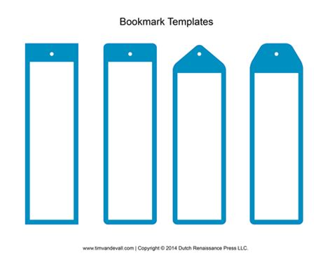 printable bookmarks to make blank bookmark templates free printable calendar