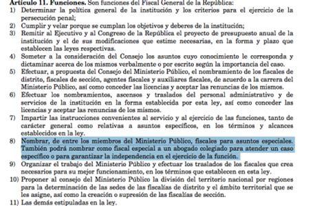 ley no 133 11 orgnica del ministerio pblico aldana dice que ning 250 n juez puede ordenarle nombrar fiscal