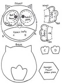 owl templates for sewing artist loft free pattern felt owl