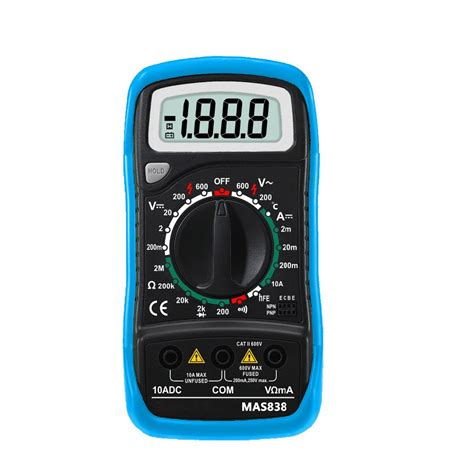 multimeter diode test transistor bside mas838 digital dc current meter multimeter temperature tester transistor diode continuity