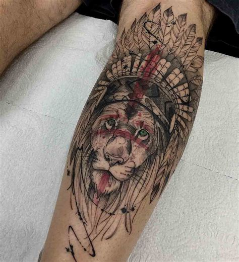 native american sleeve tattoo designs americans lions