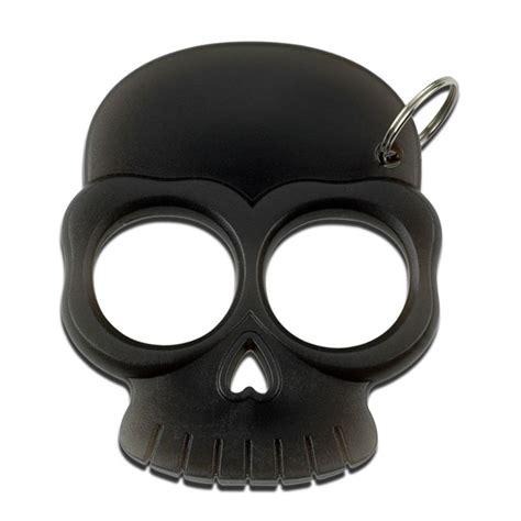 zombie skull 2 finger knuckle two finger black self defense skull knuckle keychain