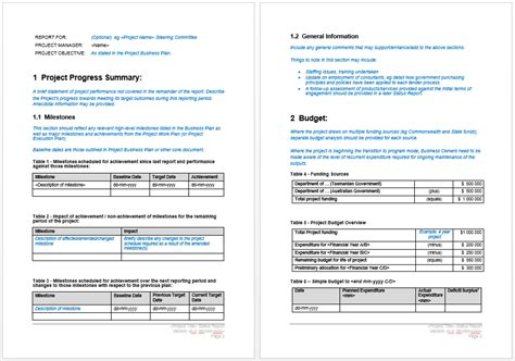 monthly report for operational budget template sample for