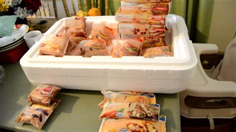 nutrisystem frozen food  shipment unpack youtube