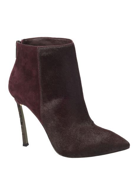 high heel booties for sam edelman haircalf high heel booties in purple