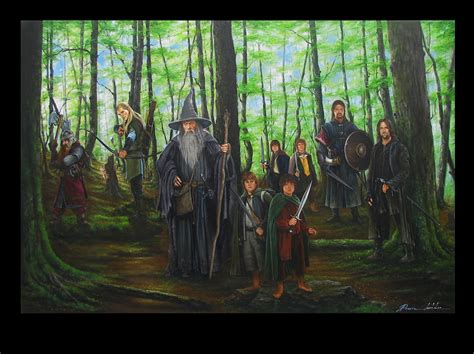 a few of large lotr paintings by potratz hai