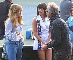 emma stone battle of the sexes emma stone in a tennis costume on battle of the sexes set