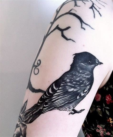 black sparrow tattoo 95 black for dzinemag