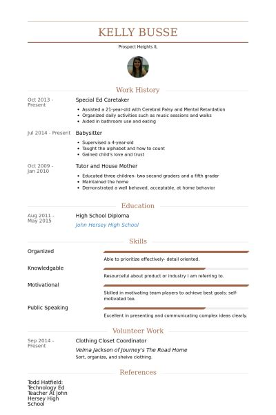 caretaker resume sles visualcv resume sles database