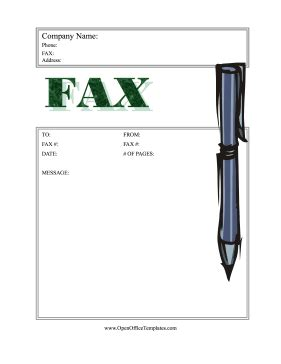 Fax Cover Sheet Template Open Office by Fax Coversheet Stylus Pen Openoffice Template