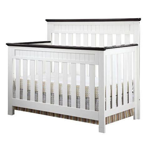 White And Brown Crib Baby J S Crib Delta Chalet 4 In 1 Lifetime Crib White