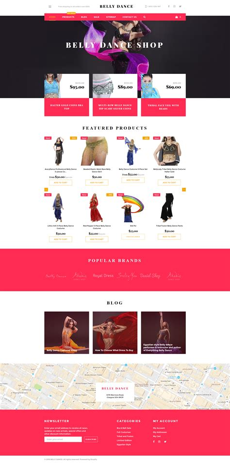 shopify themes for photographers dancer shopify theme