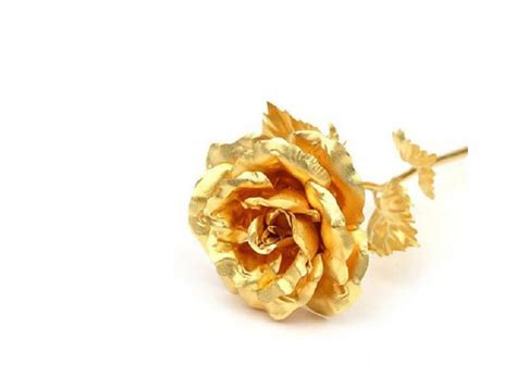 Gift For Home Decoration by 24k Gold Rose