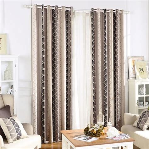 black and grey bedroom curtains black and gray geometric jacquard polyester cotemporary