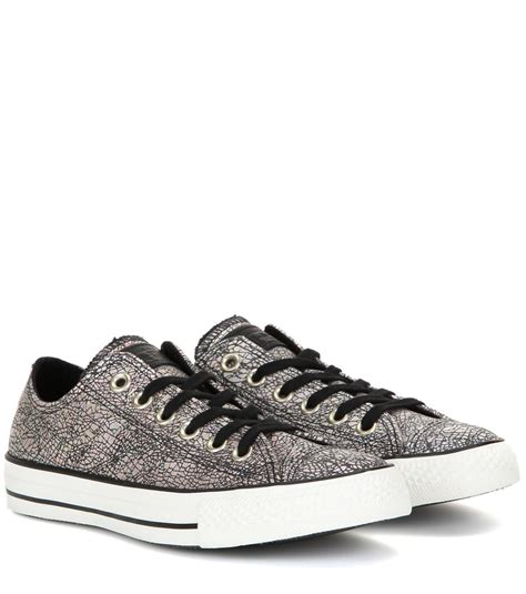 converse chuck all sneakers converse chuck all ox metallic sneakers in