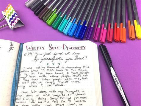 a journal of self discovery 52 weeks of self discovery prompts for your bullet journal