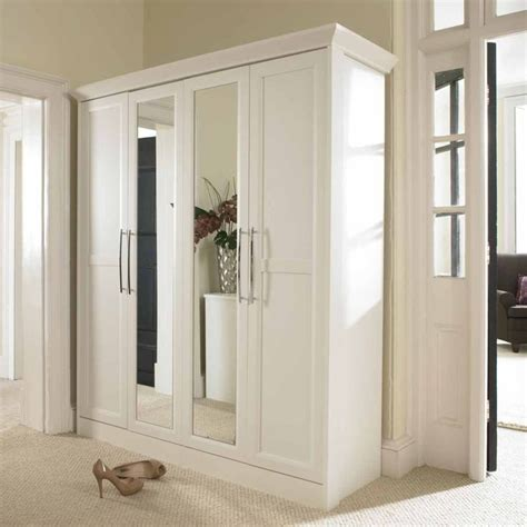 bedroom mirrored wardrobes furniture plain white wardrobe armoire with mirror and