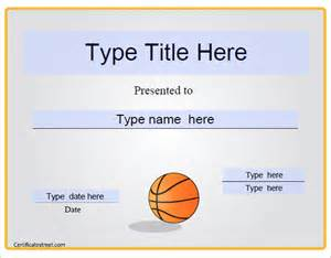 basketball award certificate templates basketball certificate template 13 free word pdf psd