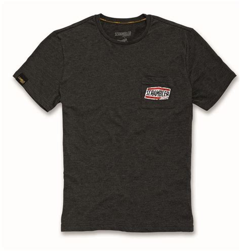 Tshirt Monochrome The Scrambler ducati scrambler moab t shirt sleeve neck black