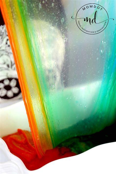 tutorial slime clear clear rainbow slime no borax