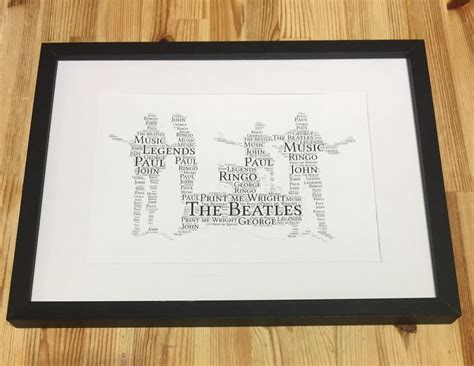 gifts for beatles fans 94 best word art images on pinterest a4 word art and