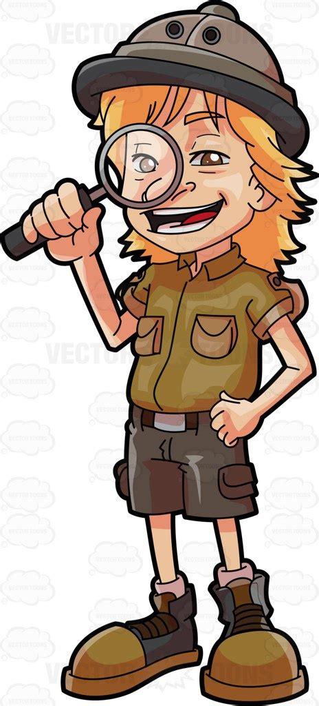 1431702064 on safari a young explorer s a young explorer vector clip art cartoon