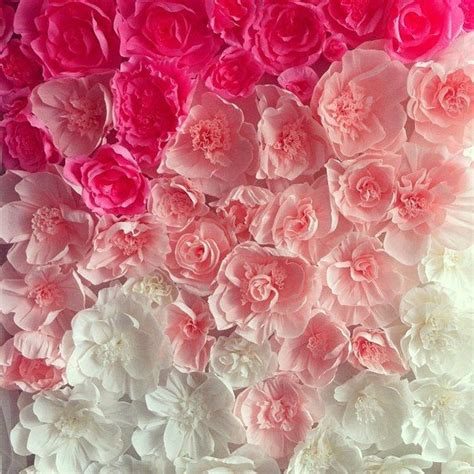 Make Paper Flowers Wedding - wedding paper flowers flower walls wedding