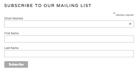 newsletter signup form template add a signup form to your website mailchimp