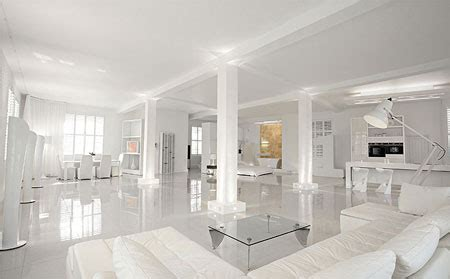 house design with white color loft blanc