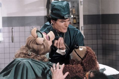 christopher reeve the muppet show pictures of behind the scenes with the muppets from the