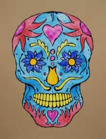 colorful skull tattoo designs skull color