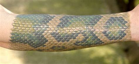 snake skin tattoo 3 pics