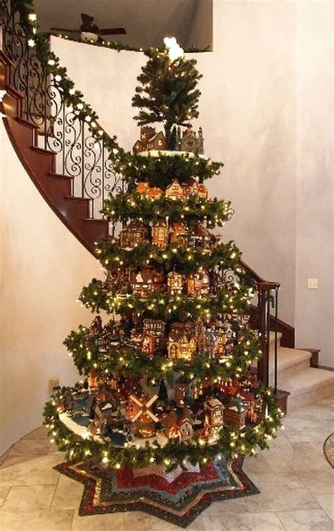 measurements christmas tree village display 845 best holidays images on snow diy and creative things