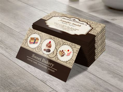 sweet bakery packaging design template white business card paper make your own business card from 20 000 designs