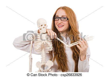 Squelette Docteur Jeune Isol 233 Femme Blanc