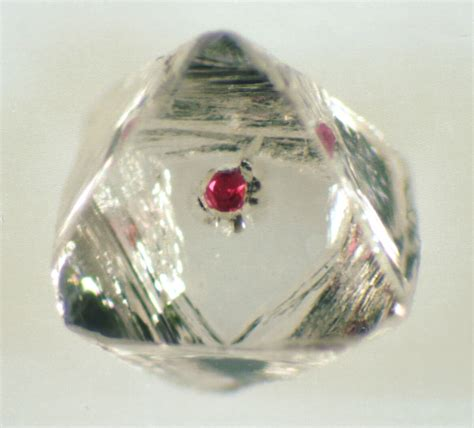 transparent south with garnet inclusion