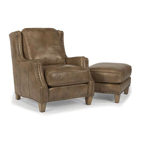discount chairs and ottomans flexsteel b3813 10 08 conrad leather chair and ottoman