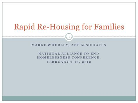 rapid re housing 3 2 introduction to rapid re housing for families