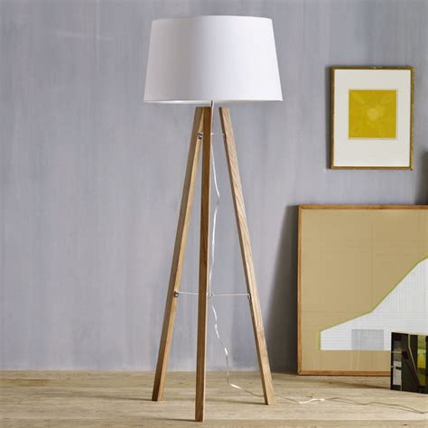 Design Your Own Eco Home by Tripod Wood Floor Lamp West Elm Uk
