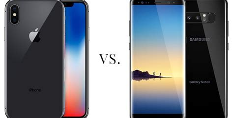 what s better galaxy or iphone iphone x vs galaxy note 8 which is better for