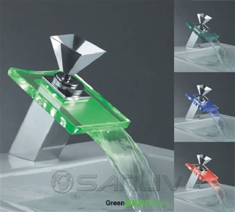 LED Waterfall Bathroom Sink Faucets   Sanliv Kitchen