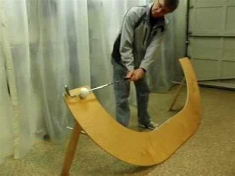 golf swing plane board folding golf plane board youtube