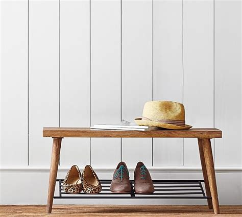 pottery barn shoe bench 5 essentials for a functional entryway even if it s
