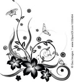 Flower Borders Free Clip Art - page border designs flowers black and white cliparts co