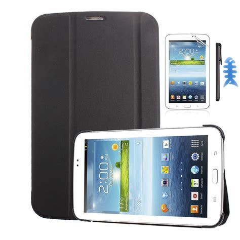 Samsung Tab T211 Leather Cover 7 Quot For Samsung Galaxy Tab 3 7 0 T210 T211 Screen Stylus Ebay