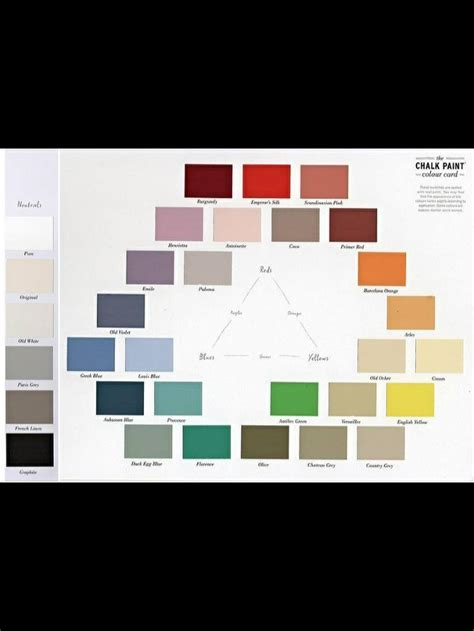 sloan color chart the 25 best sloan colour chart ideas on