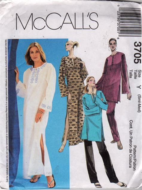 pull up pattern sewing mccalls 3705 misses pullover caftan tunic top and pull on