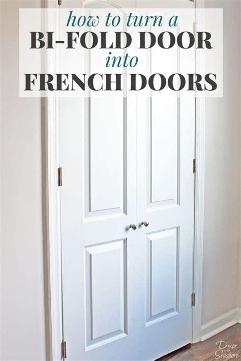 how to turn a bi fold door into doors bi fold